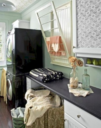 Laundry design ideas with drying room that you must try 51