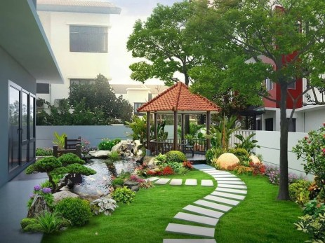 Best front yard design ideas for summer in your home 08