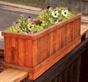 Inspiring wooden box ideas for flower that you can try 17
