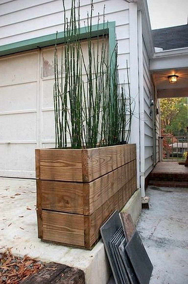 Inspiring wooden box ideas for flower that you can try 34