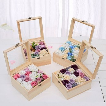 Inspiring wooden box ideas for flower that you can try 40