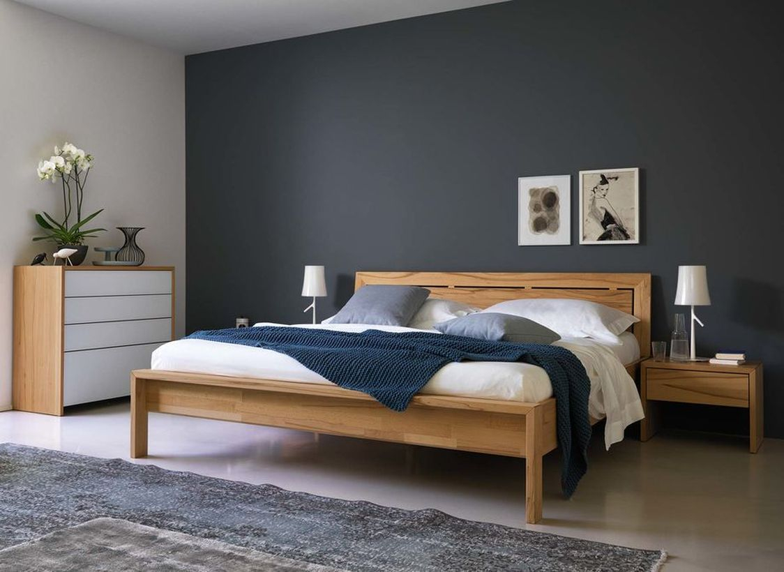 An amazing nature element furniture for summer with bedroom furniture made of solid wood for healthy sleep