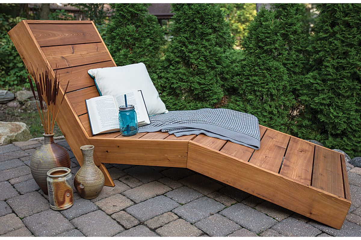 Best diy furniture with wood reclining chaise to bring resort style to your back yard