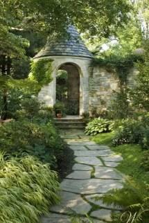 On budget garden walk path ideas for an easy movement around the garden 46