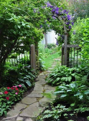 On budget garden walk path ideas for an easy movement around the garden 50