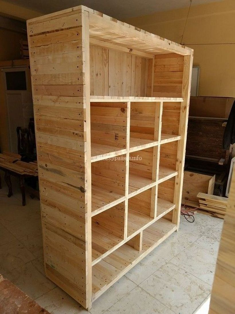 Wooden rack ideas to be applied into any home styles for a warmer room impression 11