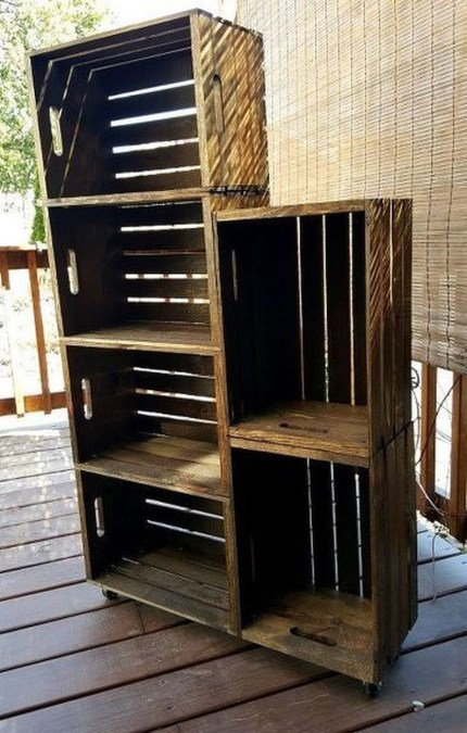 Wooden rack ideas to be applied into any home styles for a warmer room impression 25