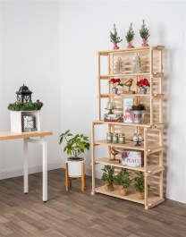 Wooden rack ideas to be applied into any home styles for a warmer room impression 39