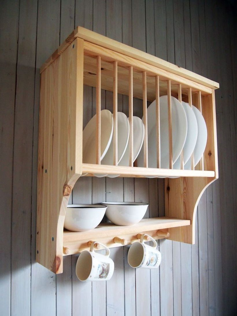 Wooden rack ideas to be applied into any home styles for a warmer room impression 51