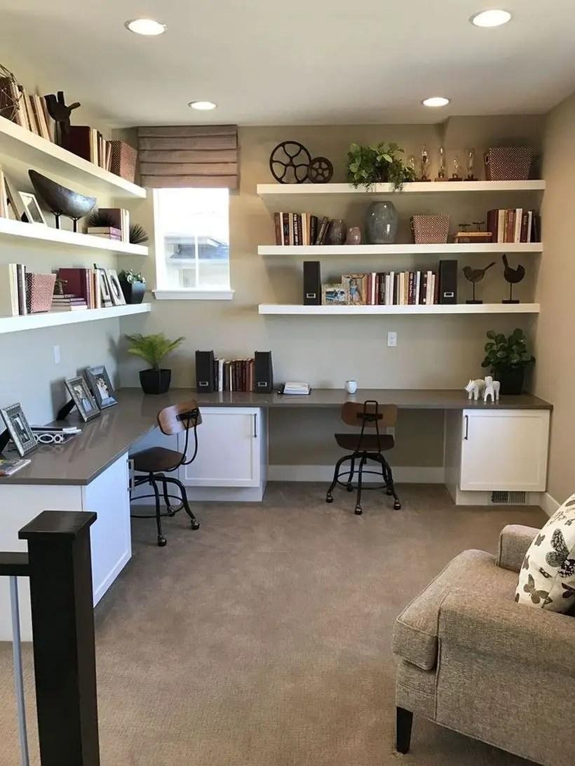 Book shelves wall