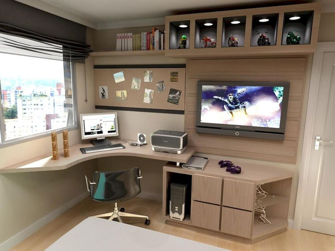 Cork boards home office
