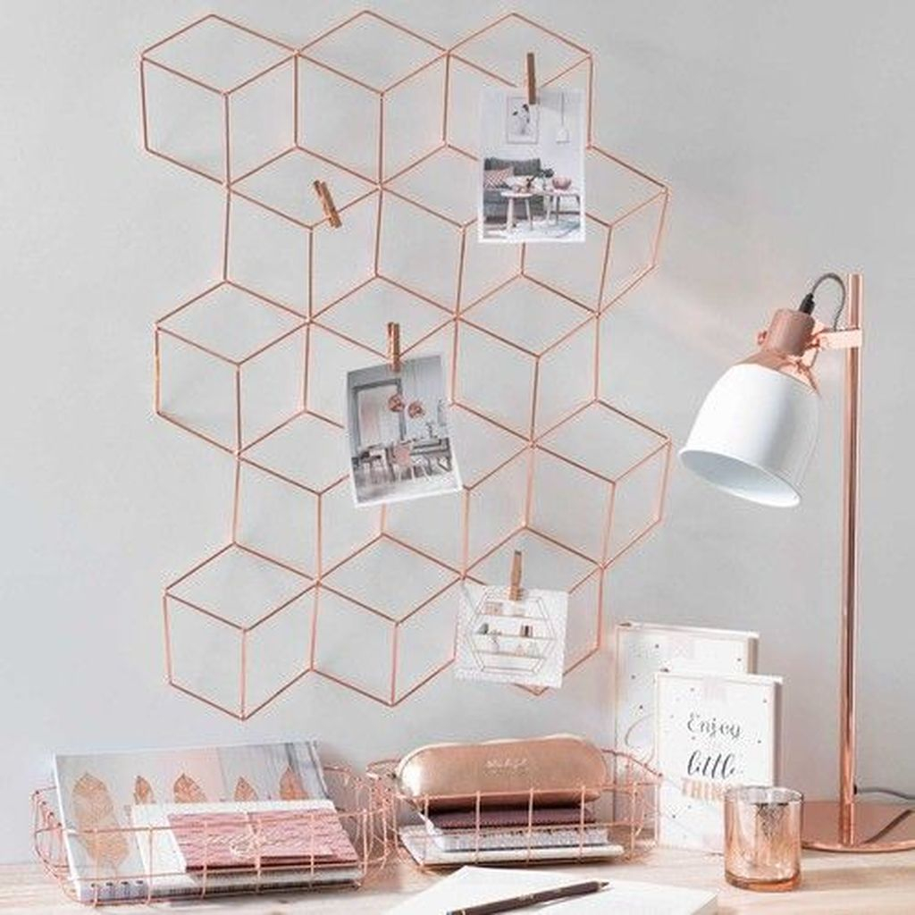 An awesome copper decoration with copper lamps and copper furniture to perfect your home decoration