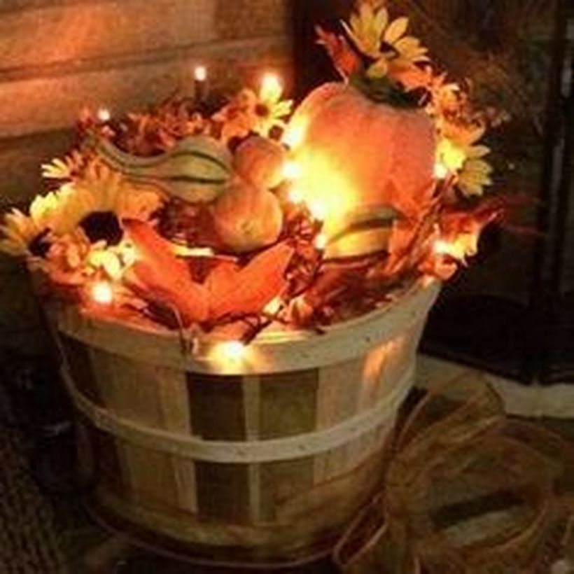 Diy pumpkins decoration and decorative lighting