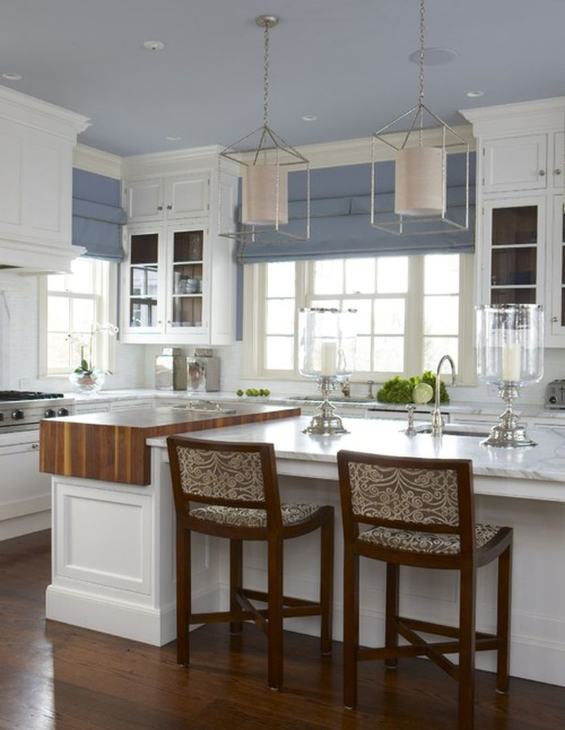 Interesting misty color in the kitchen ideas to complete room
