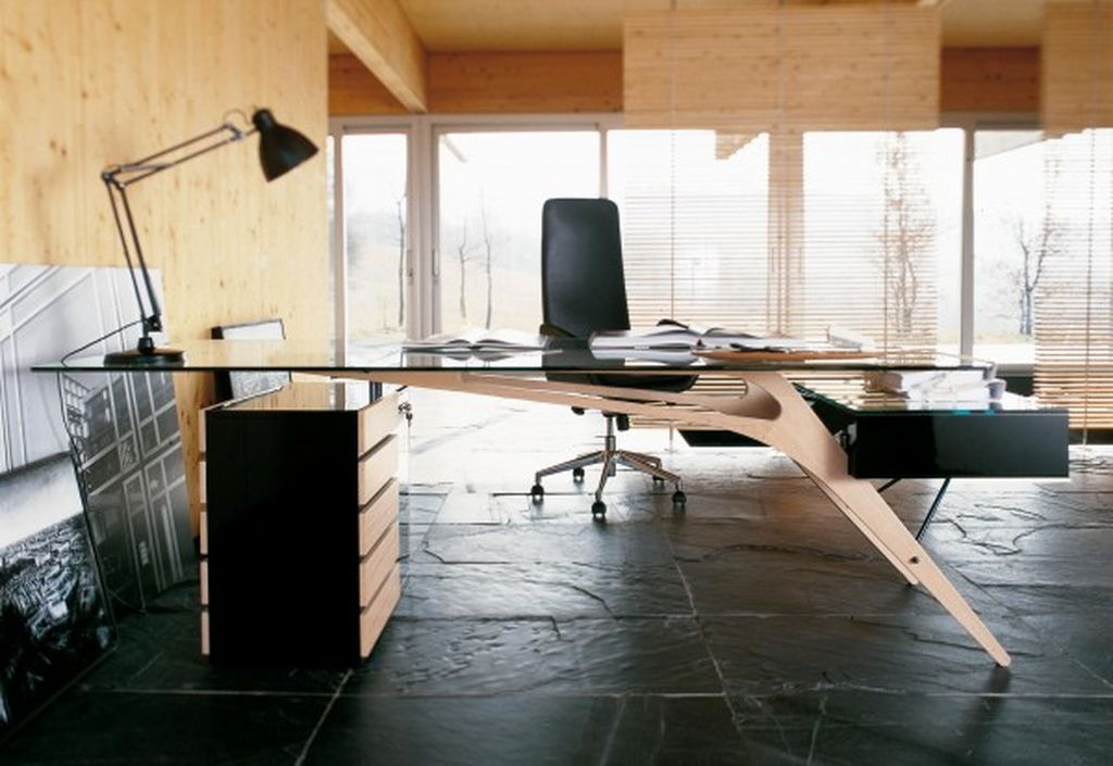 Perfect desk design with unique design to organize an elegant your office home