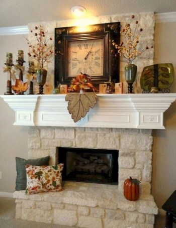Pumpkins decoration above fire pit