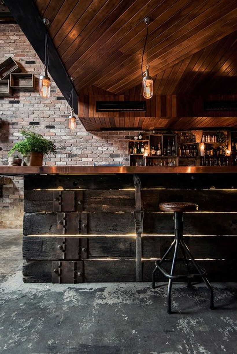 Rustic atmospheric home bar