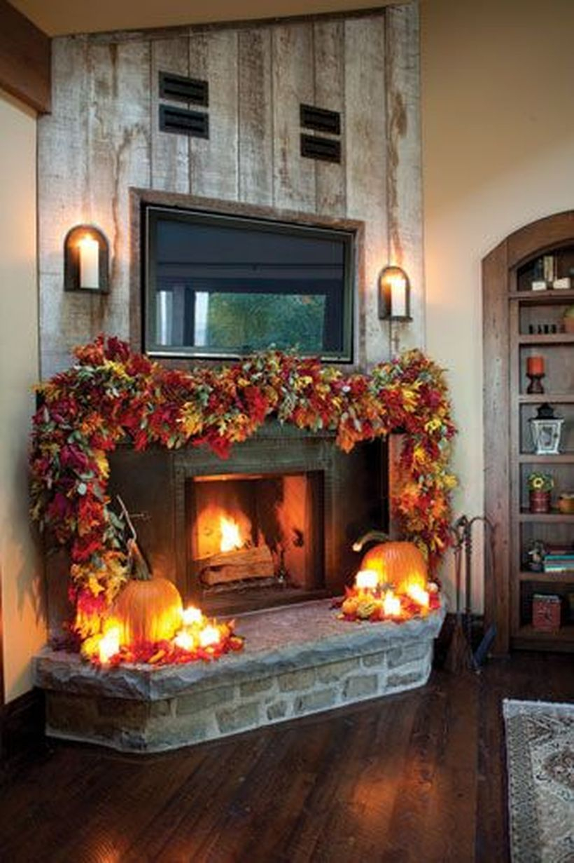 Vines fireplace decoration ideas