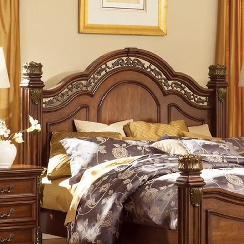 Wooden headboard for bedroom