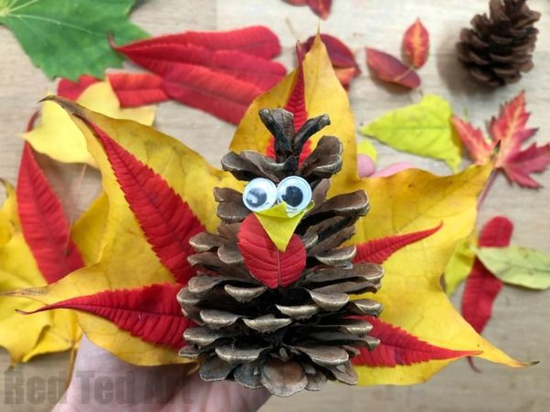 Best autumn leaves craft bird shape