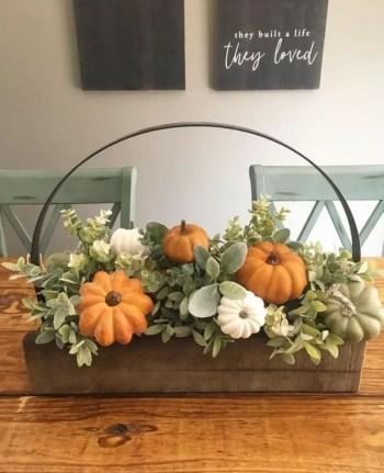 Centerpiece with pumpkin