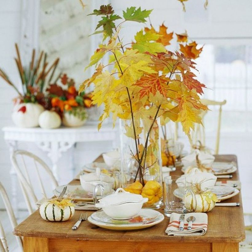 Dried leaves decoration ideas
