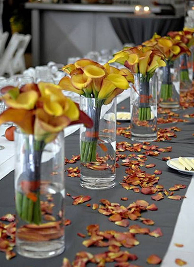 Dried yellow flower decoration