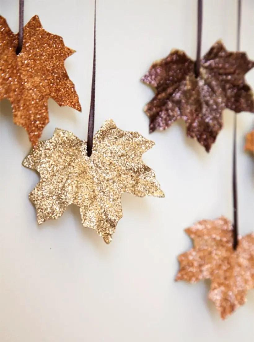 Elegant autumn leaves craft decoration
