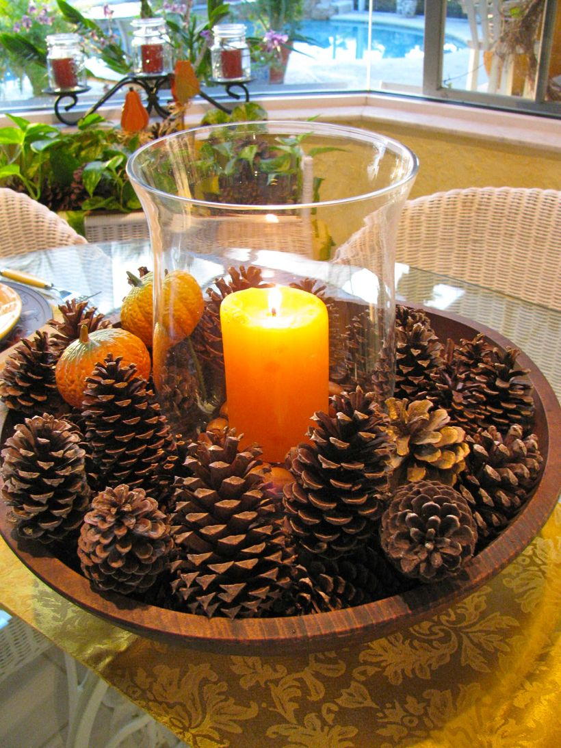 Pine fruit and candle ideas