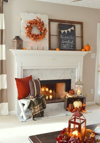 Pumpkins to decorate fire pit