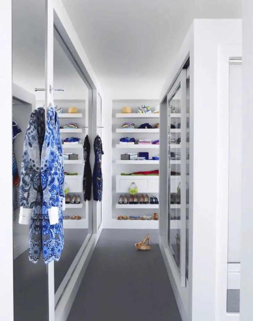 An attractive monochrome wardrobe.