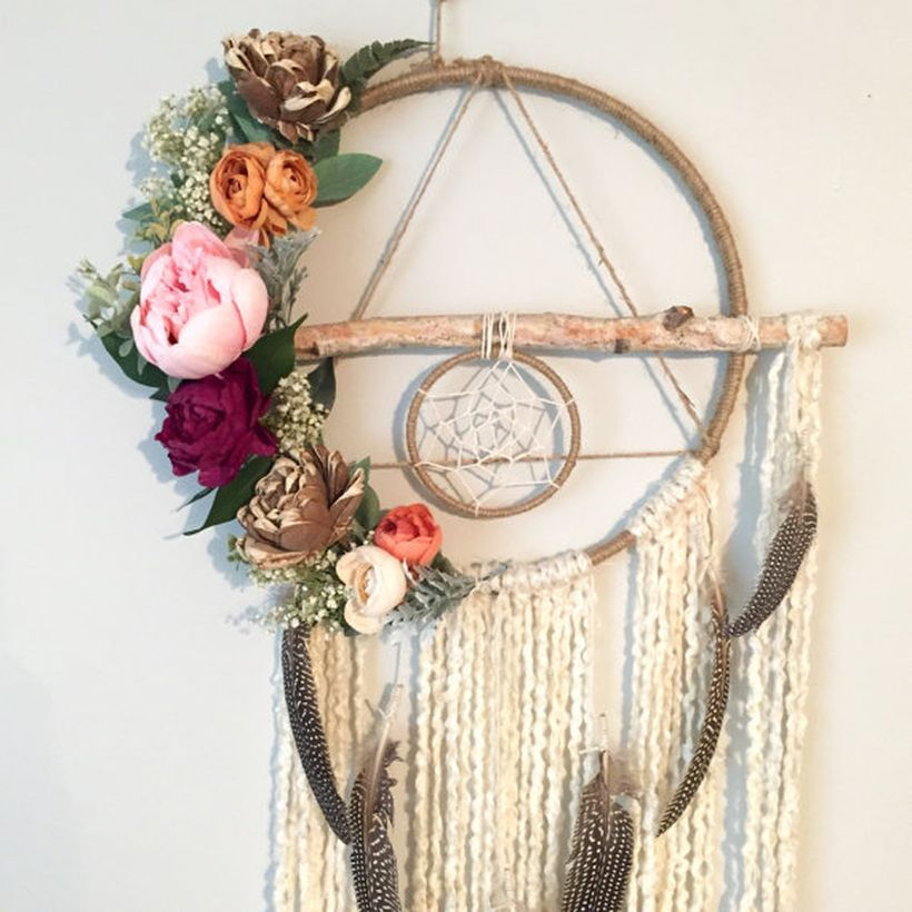An awesome ornament for bohemian home decorating with wood dream catcher ornaments imagine how stunning these handmade baltic birch ornaments would look hanging from your wall.