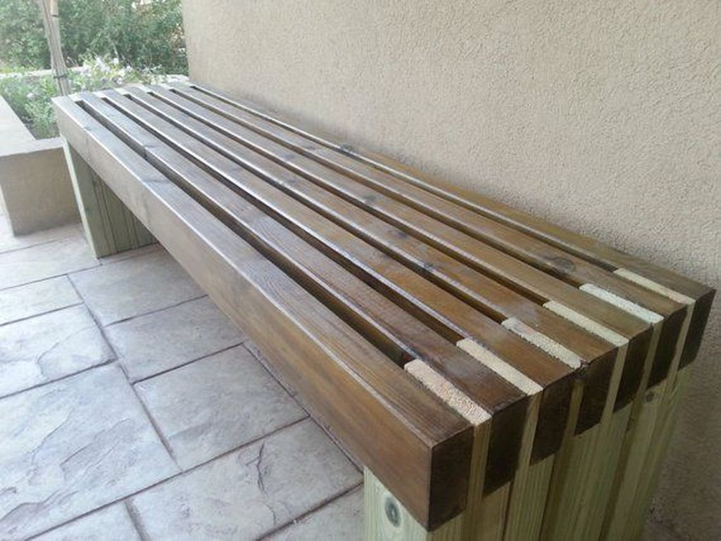 Creative wooden bench for outdoor