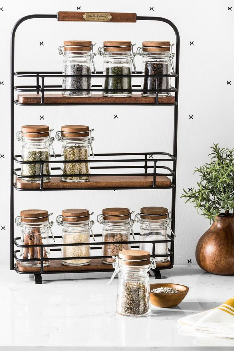 Diy spices organizer with cleaver iron rack you must try