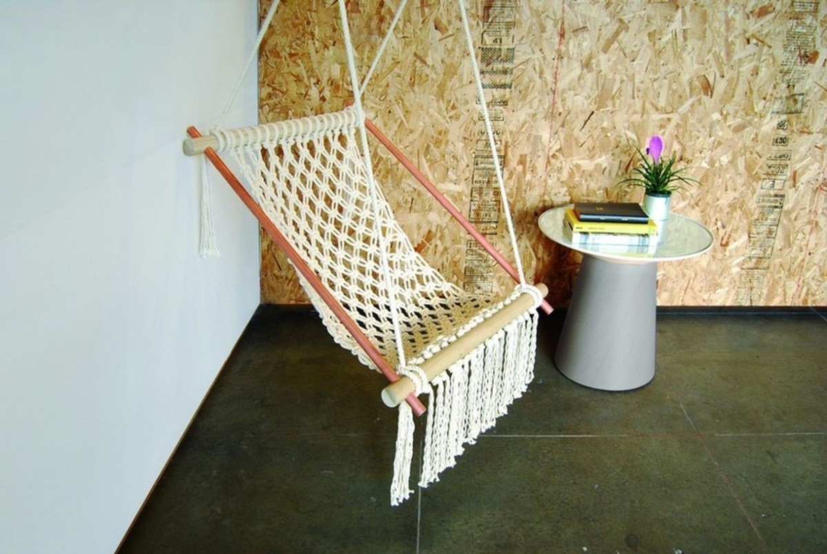 Hippy macrame chair.