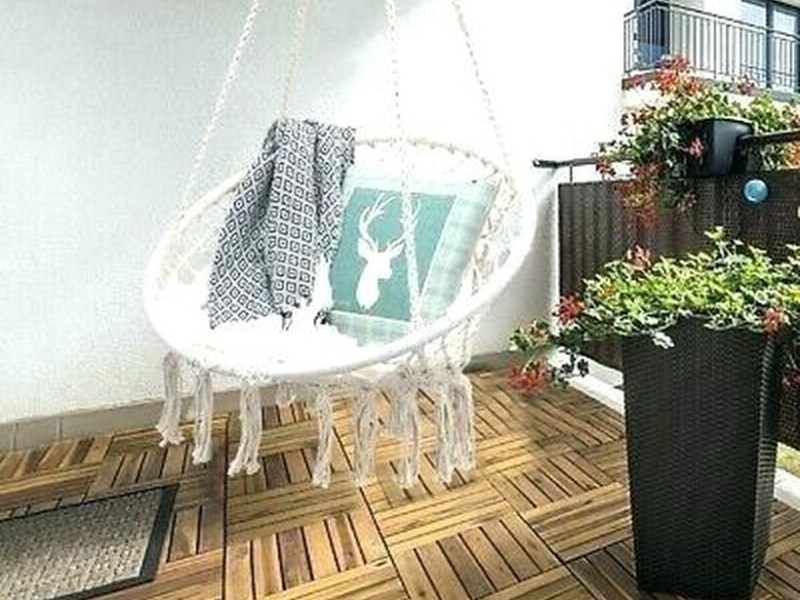 Macrame swing chair pattern hanging.