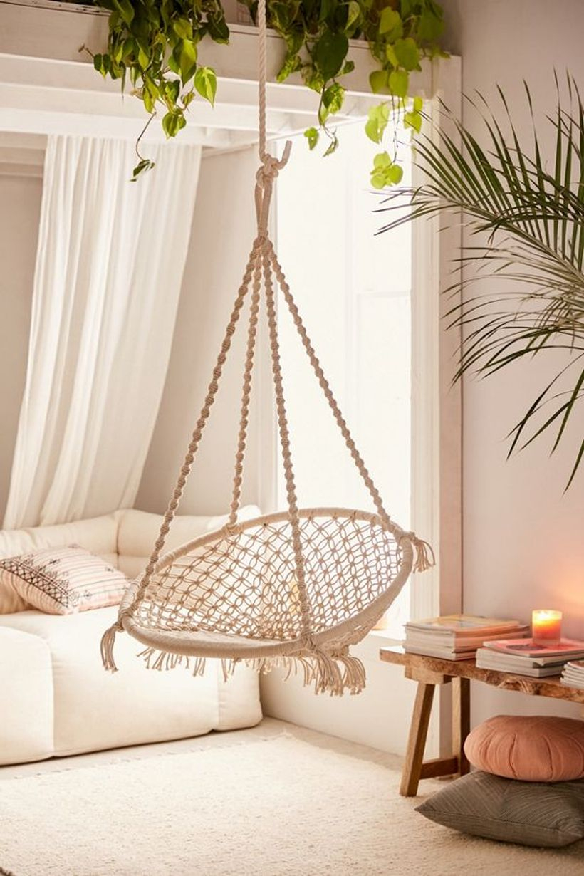Meadow macrame hanging chair.