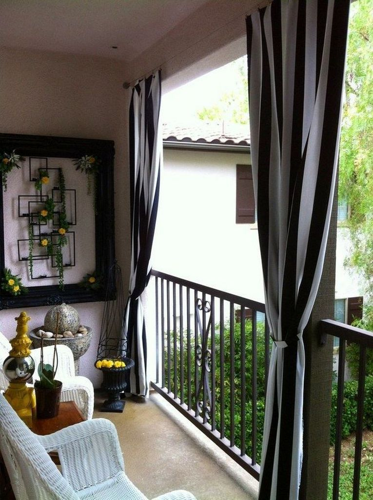 Perfect curtain for small balcony