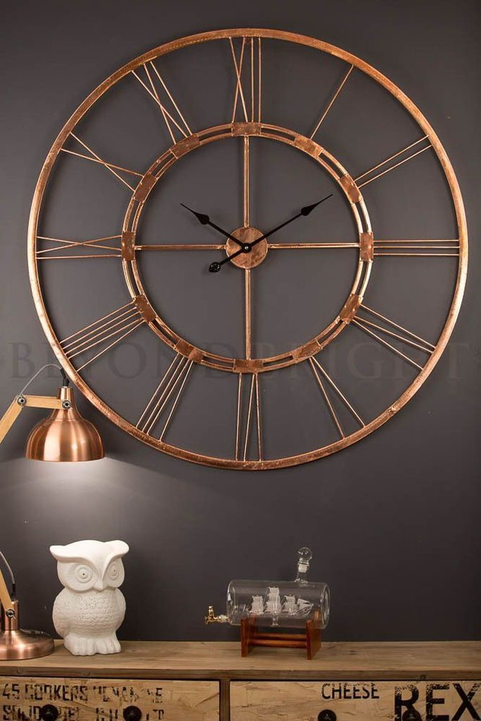 Rose gold clock wall decoration