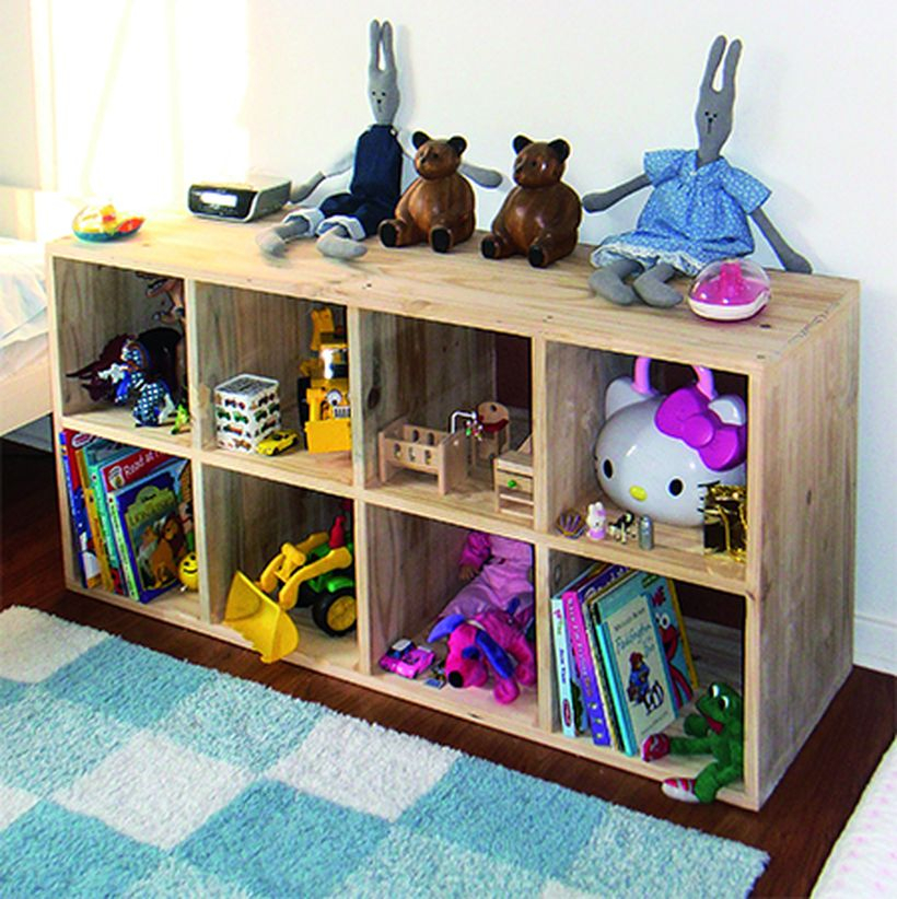 Simple square storage for children's bedroom for save children toy