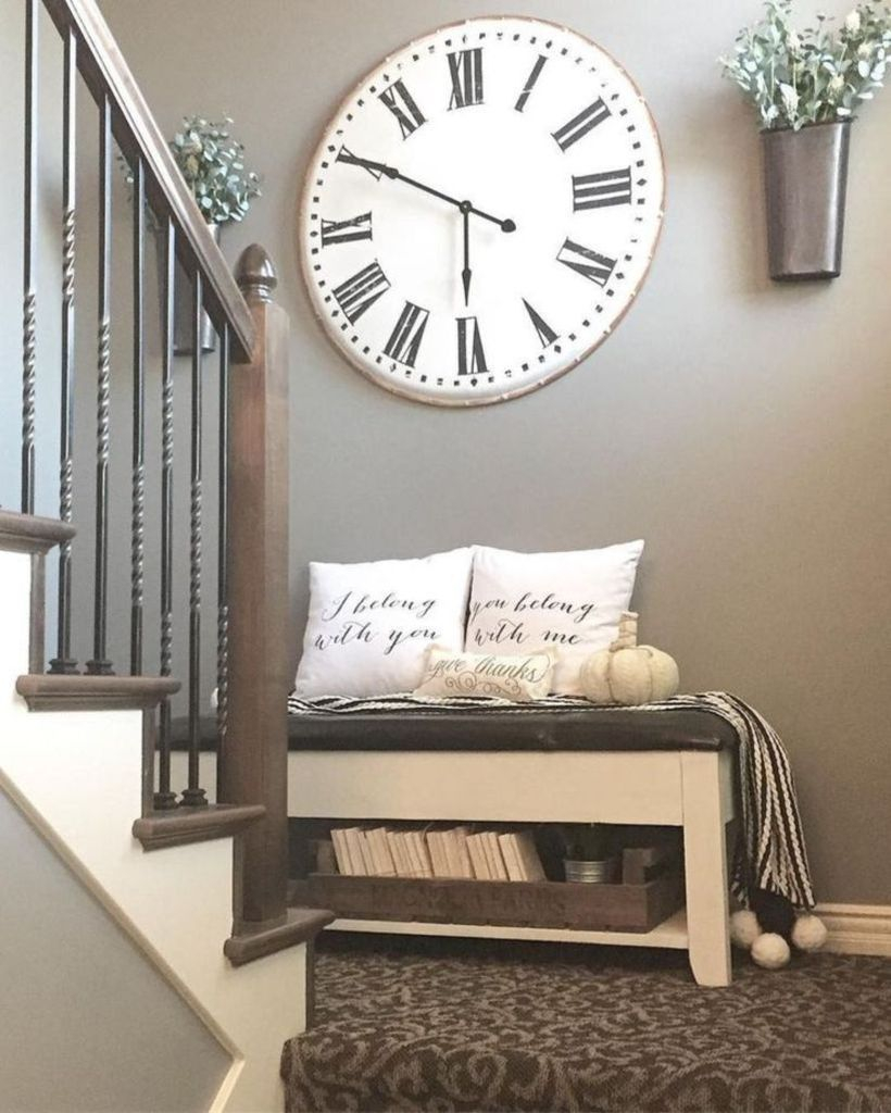 White clock for wall decoration