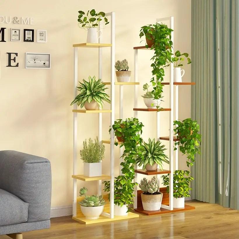 White wooden rack placement succulent ideas unique shape to interesting your room decoration