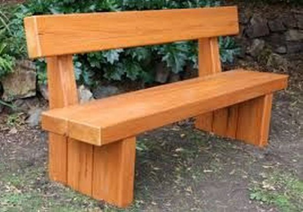 Wooden bench for outdoor