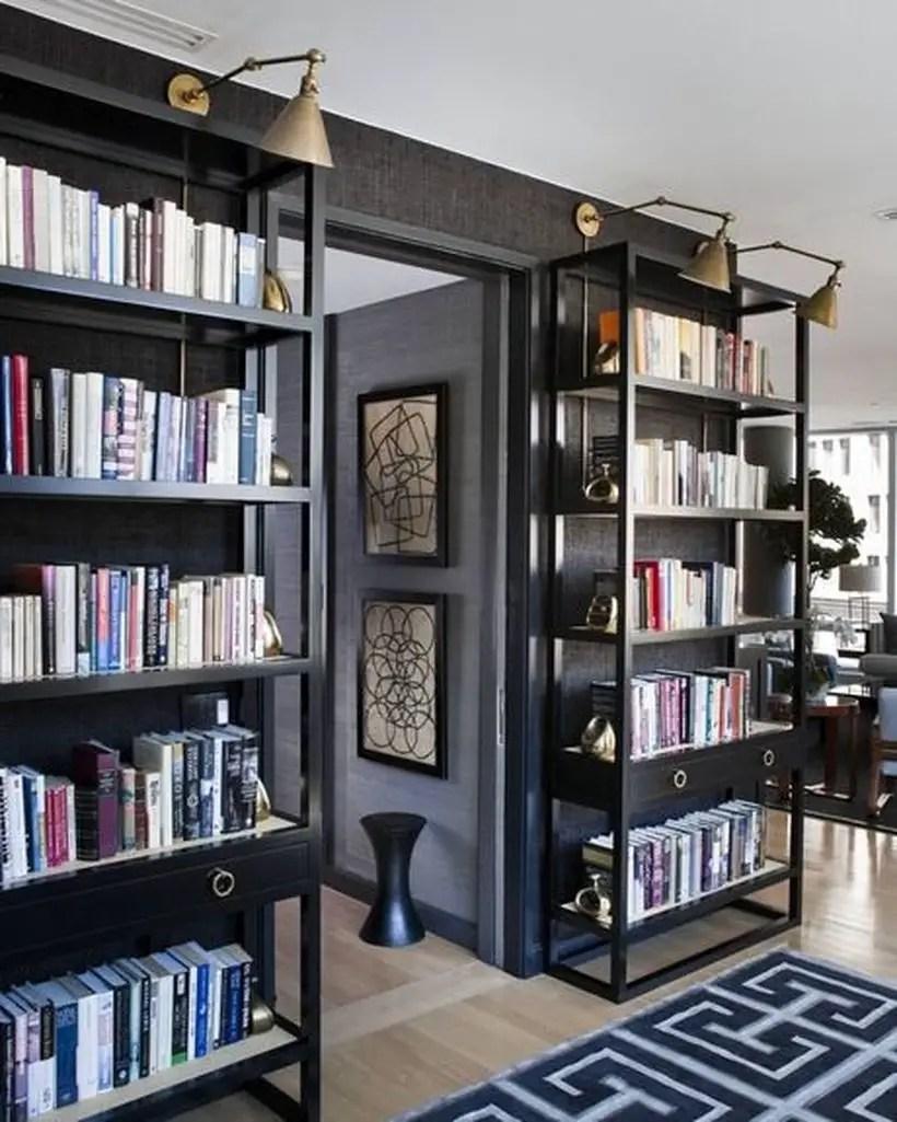 Amazing iron bookshelves ideas