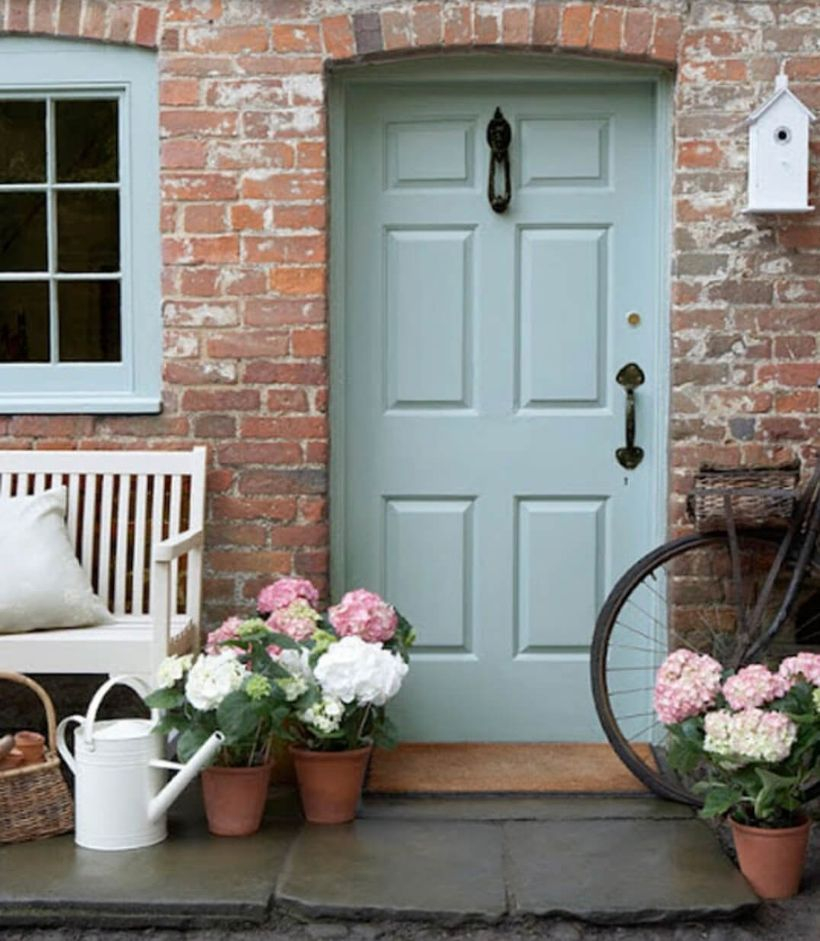 Best pastel blue front door makes your home sweet to look at