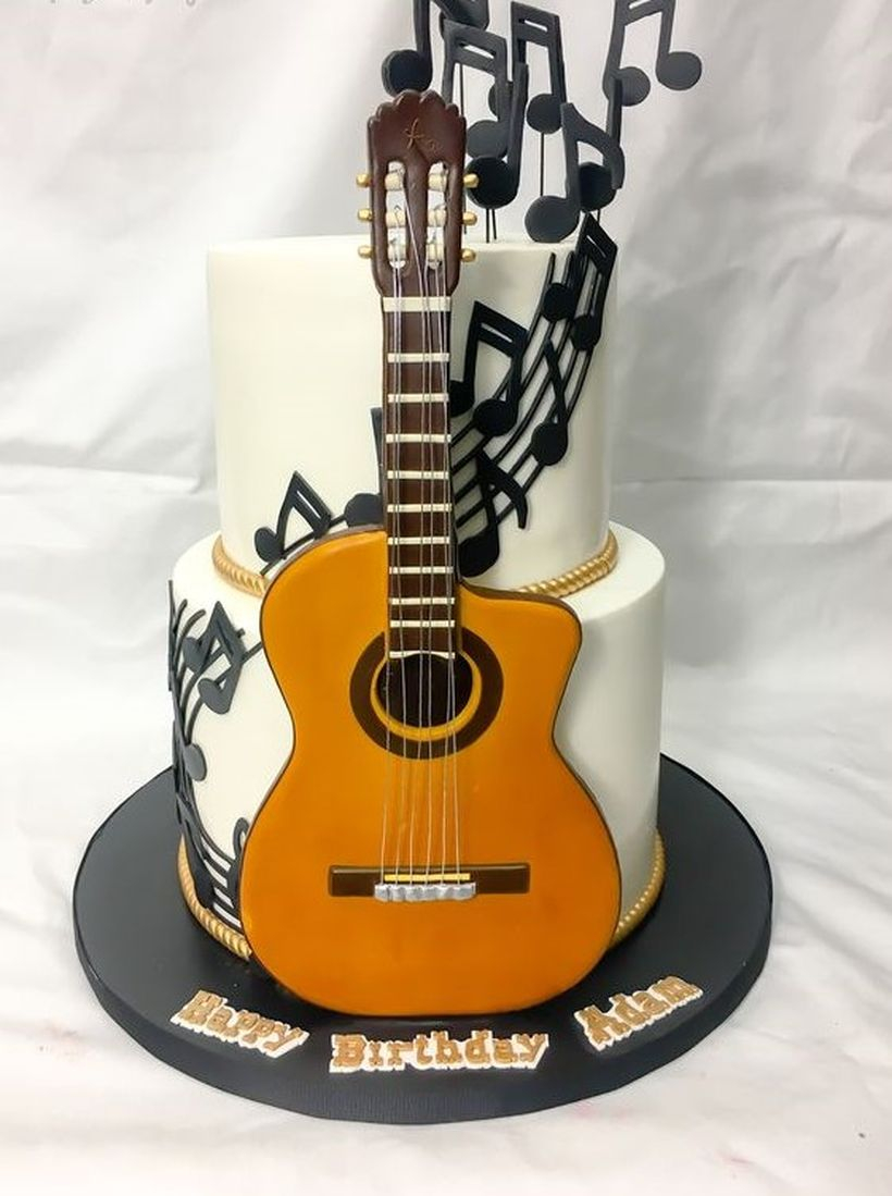 Best cake birthday with with guitar themes and melody tones