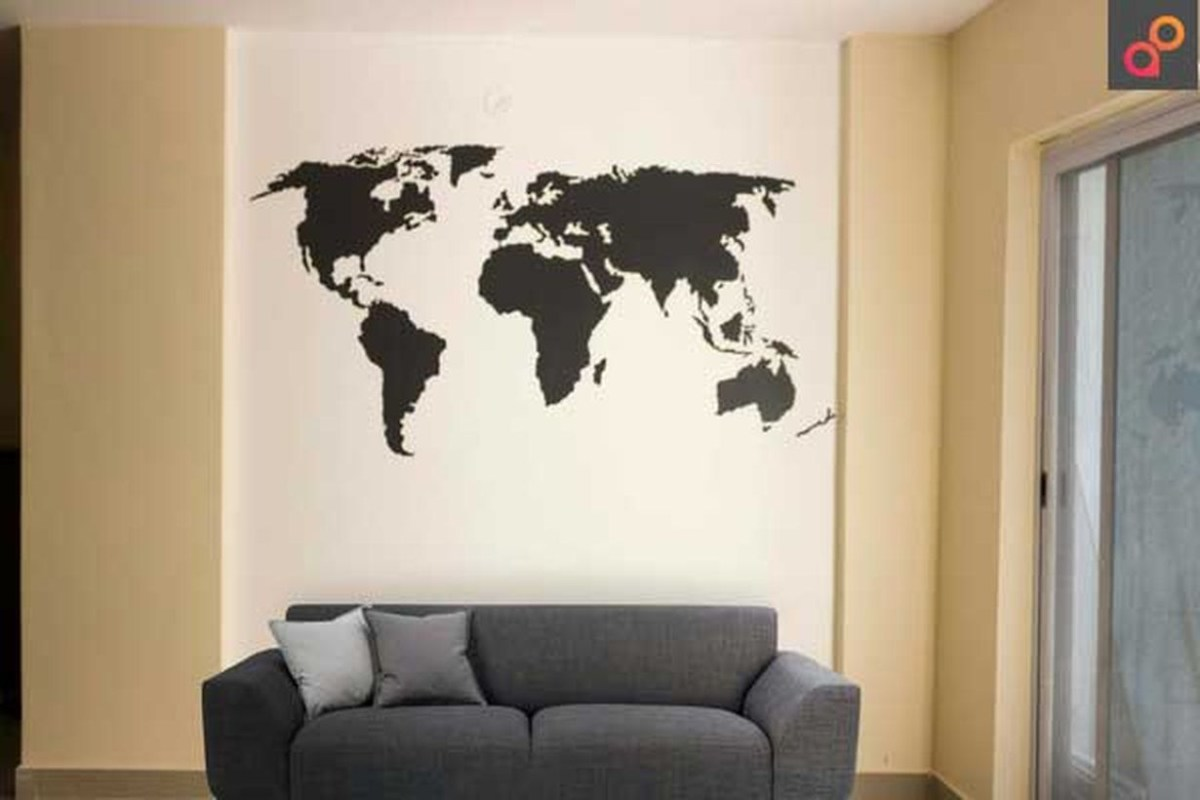 Best wall painting word map for your living room to beautify