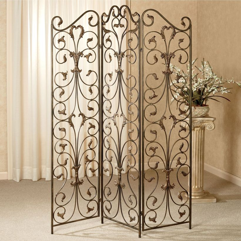 Black iron room divider