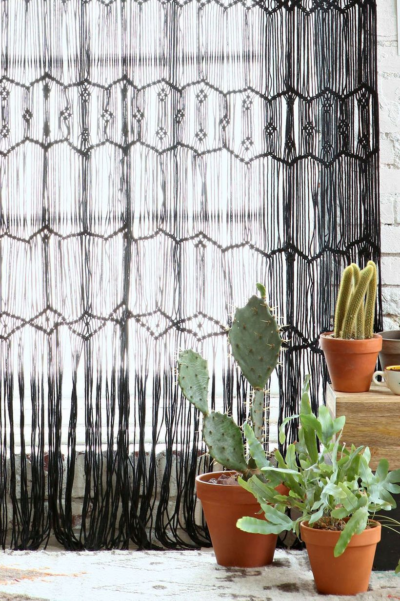 Black rope curtain