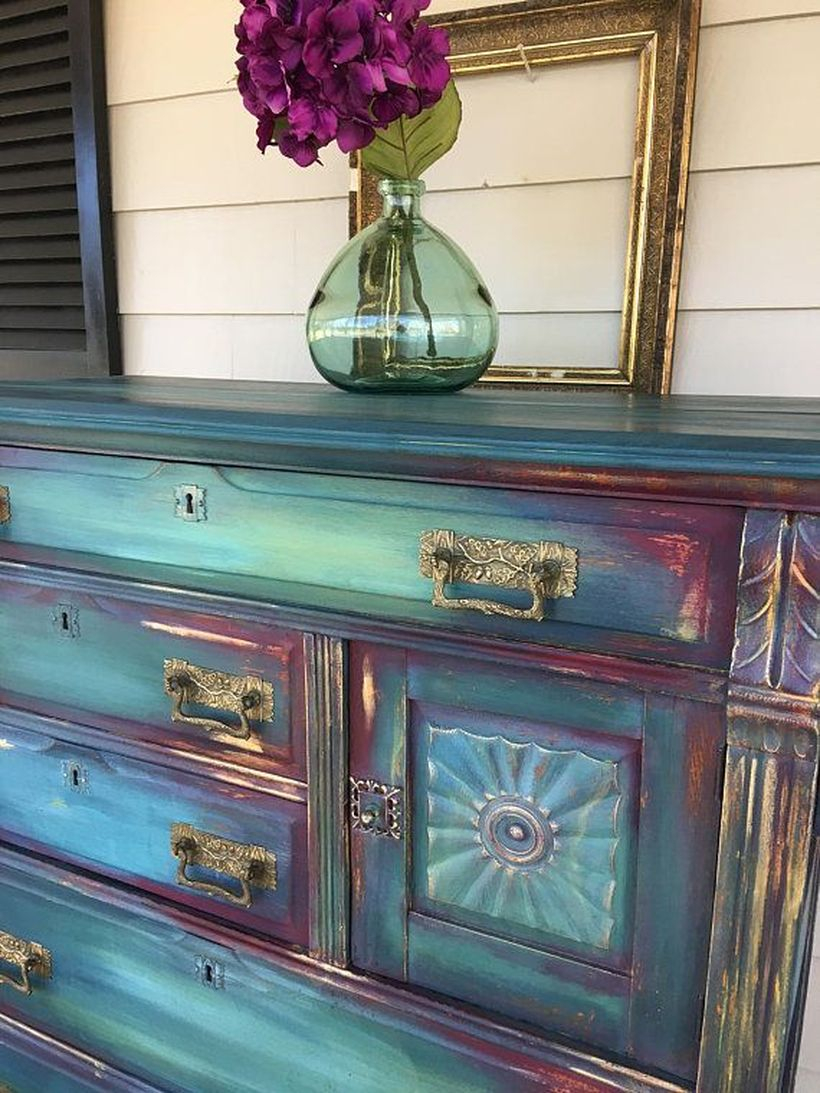 Classic wooden cabinet for entryway